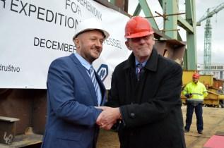 Predsjednik Uprave Brodosplita i DIV grupe Tomislav Debeljak i Wynand von Gessel, vlasnik tvrtke Oceanwide Expeditions