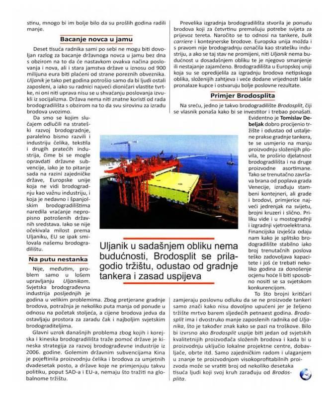 Hrvatski tjednik: Primjer Brodosplita