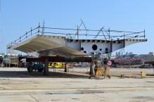 Izgradnja prvog celicnog segmenta za Most Ciovo (5)