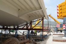 Transport prvog celicnog segmenta mosta Ciovo izgradenog u Brodosplitu (9)