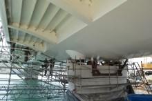 Transport prvog celicnog segmenta za Most Ciovo izgradenog u Brodosplitu (11)