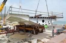 Transport prvog celicnog segmenta za Most Ciovo izgradenog u Brodosplitu (14)