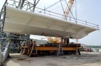 Transport prvog celicnog segmenta za Most Ciovo izgradenog u Brodosplitu (2)