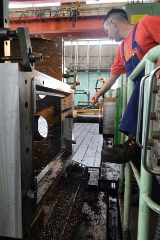 BRODOSPLIT - Strojna obrada čelika pri izradi alata za PROJEKT MOJSIJE na HORIZONTALNOJ BUŠILICI-GLODALICI ŠKODA W 200 HB4/13,5 CNC X13500 Y4250 Z2000 B kontinuirano, CNC Sinumerik 850M, 100 kW