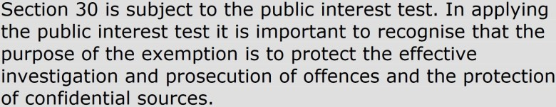 section30 public interest