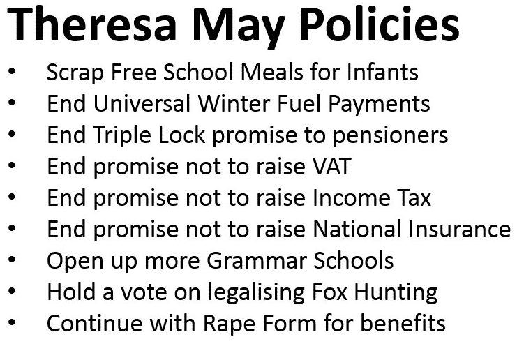 tory policy list