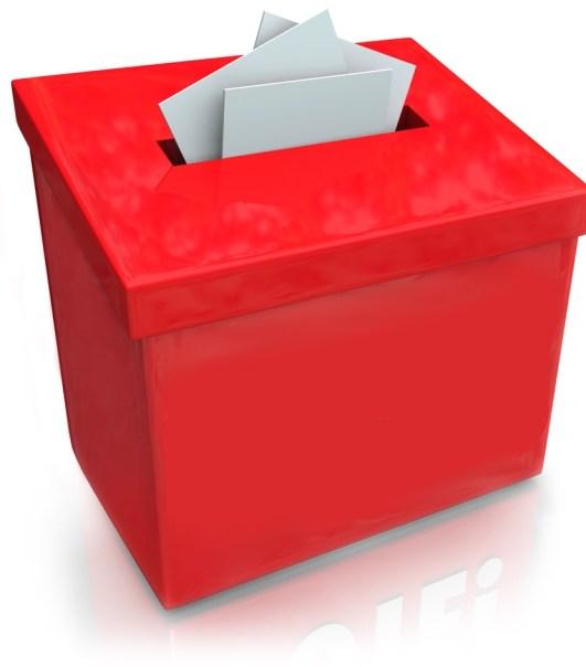 ballot box red