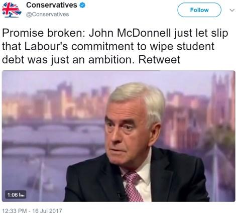 mcd Tory lie