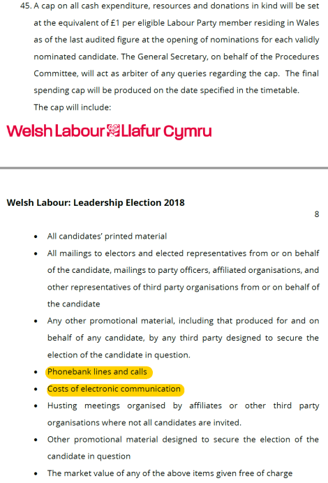 welsh spend limit