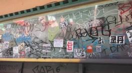 Vandal street art.