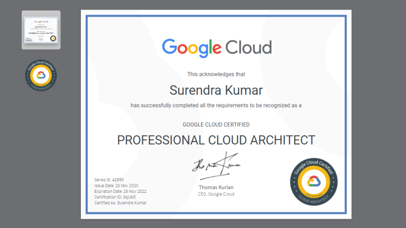 Experience of Google Certified  Professional Cloud Architect Exam – 2020