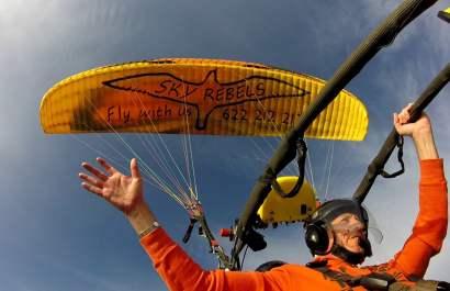 paratrike, paramotor, powered paragliding in Maspalomas, Gran Canaria