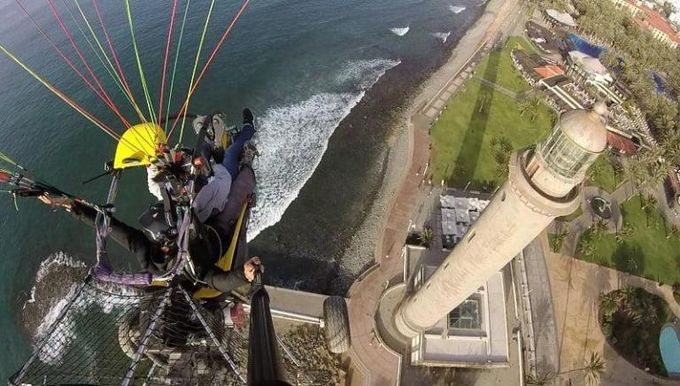 Paragliding Maspalomas Lighthouse