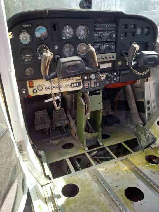 Cessna Melted Windows Log Books Destroyed 2 Holes In