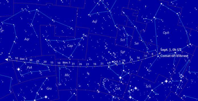 Comet 6P/d'Arrest finder chart