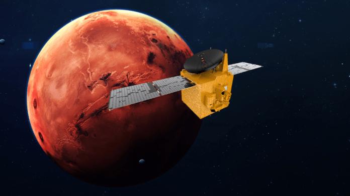 Hope orbiter around Mars (art)