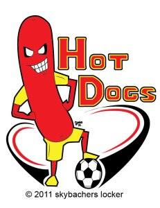 Hot Dog Soccer Logo