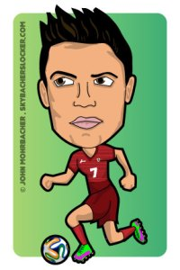 ronaldo cartoon
