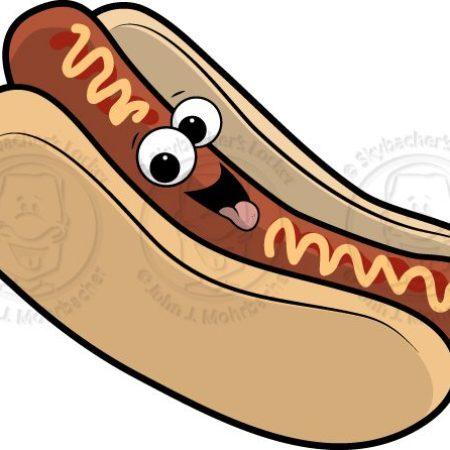hot dog, hotdog cartoon, happy hotdog, hotdog clipart