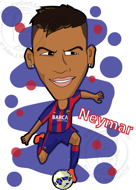 Neymar - Barcelona Cartoon