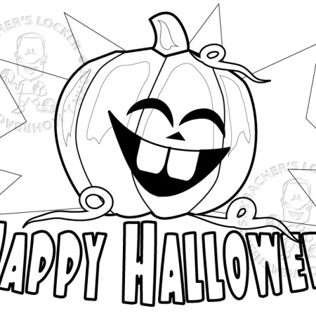 happy.halloween.coloring.page