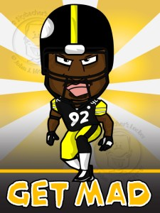 steelers clipart, harrison cartoon, steelers cartoon