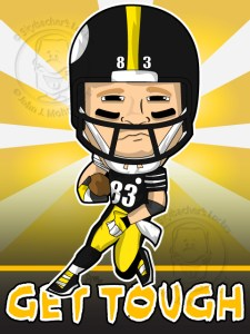 heath miller cartoon, steelers clipart, heath miller steelers
