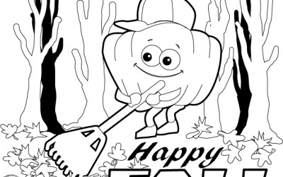 Free Happy Fall Coloring Page!
