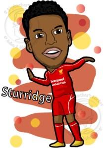 sturridge cartoon, soccer clipart,