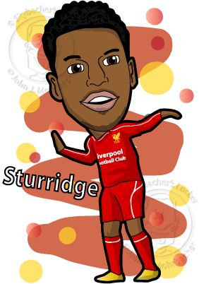 Daniel Sturridge Cartoon