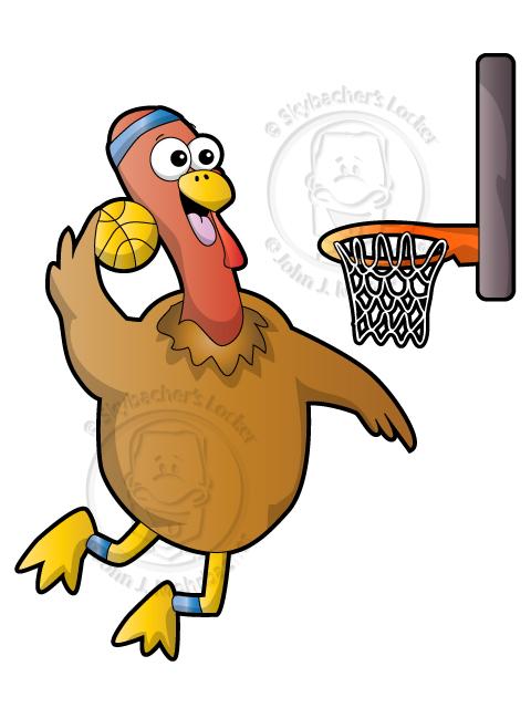 turkey cartoon, turkey clipart, thanksgiving, basketball turkey, basketball thanksgiving