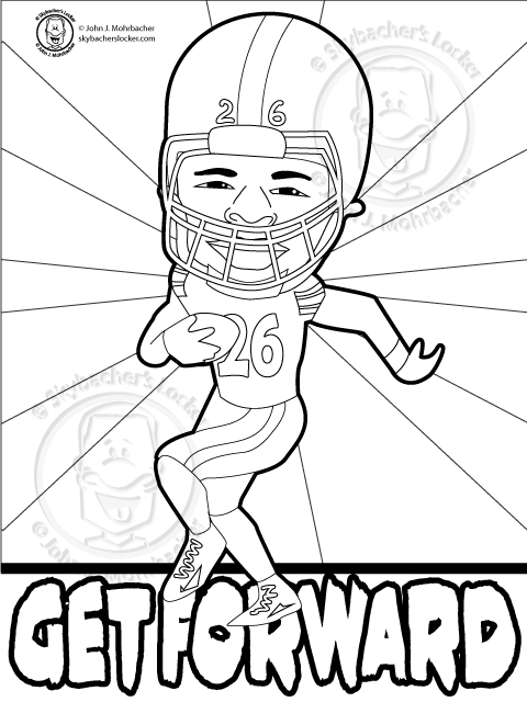 Free Steelers Le\'veon Bell Coloring Page | Skybacher\'s Locker