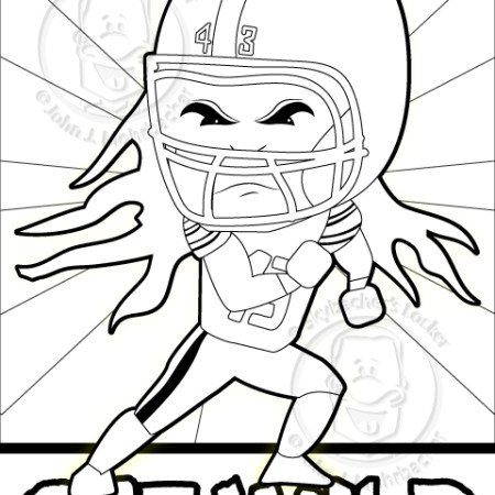 Polamalu Coloring Page