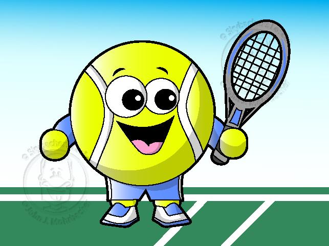 Tennis Ball Cartoon Vector Skybacher S Locker