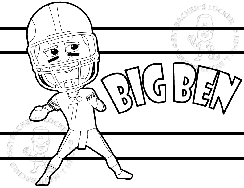 big ben steelers coloring page skybacher 39 s locker