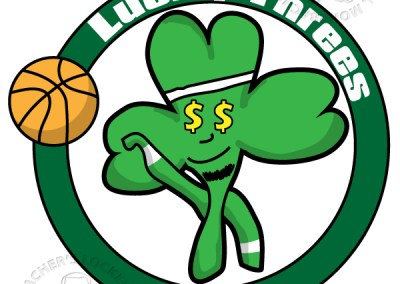 shamrock logo, shamrock basketball, basketball mascot