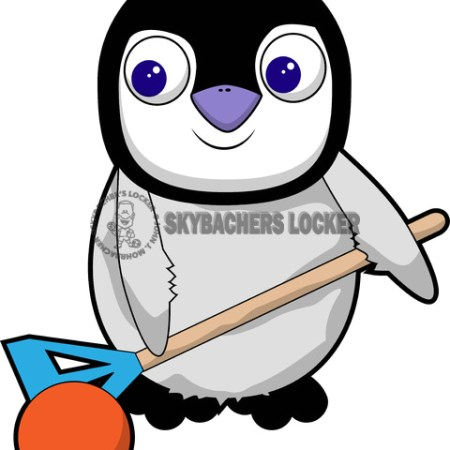 Baby Broomball Penguin - Skybacher's Locker