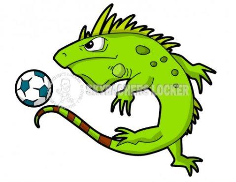 Iguana Soccer Mascot - Skybacher's Locker