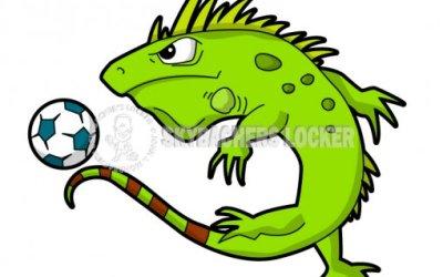 Reptile Youth Sports Logos – Iguana, Snake, and Gator