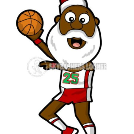 Black Santa Basketball Hookshot - Skybacher's Locker