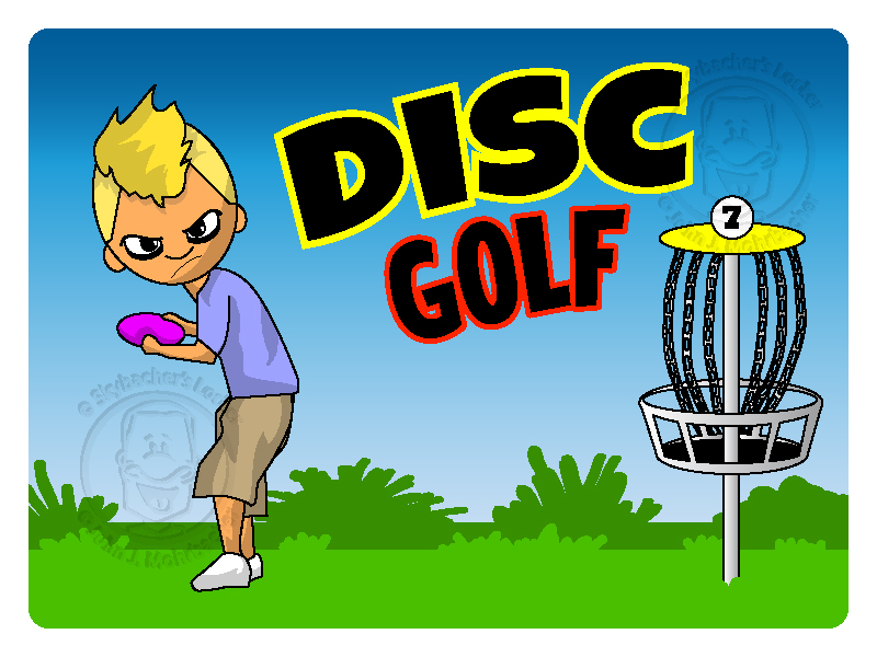 Disc Golf Cartoon Vector