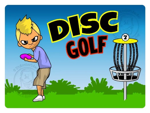 discgolf, disc golf cartoon, disc golf logo