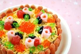 タルト風ケーキのちらし寿司