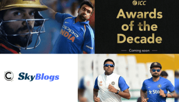 VIRAT KOHLI AND RAVICHANDRAN ASHWIN GOT NOMINATED FOR ICC MEN PLAYER OF THE DECADE