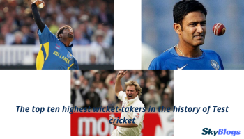 The top ten highest wicket-takers in the history of Test cricket