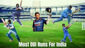 Most ODI Runs For India