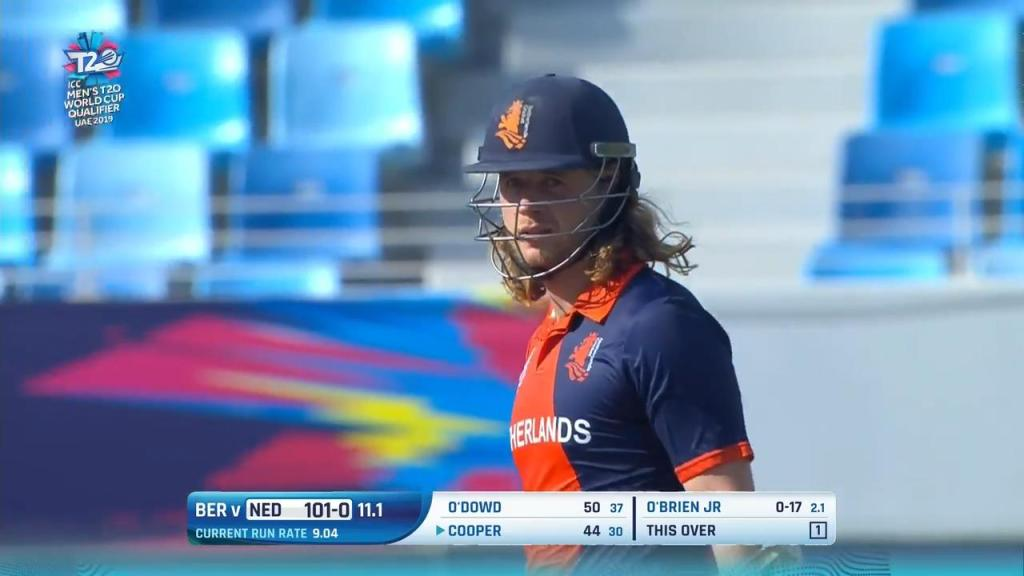 Max O'Dowd is the first dutch batsman to score a T20 century.