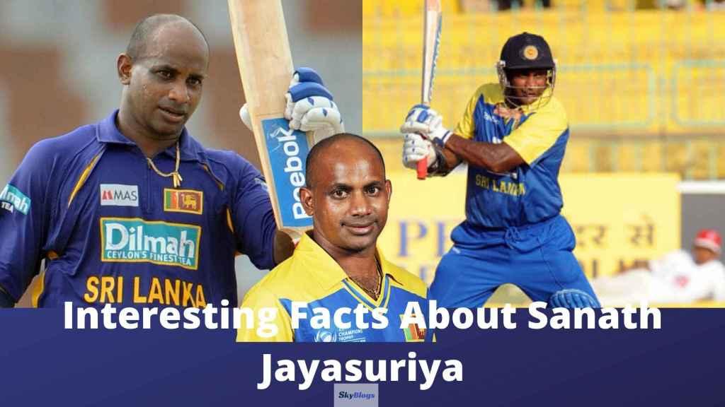 Interesting Facts About Sanath Jayasuriya