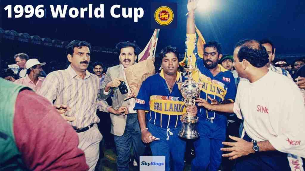 icc cricket world cup 1996 winner was Sri Lanka