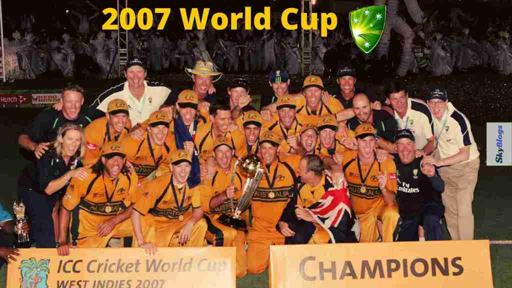 icc cricket world cup 2007 winner was australia